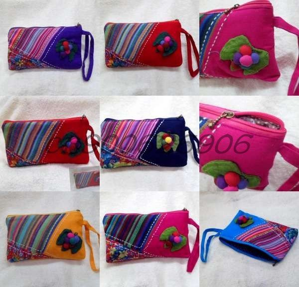 Free shipping! Wholesale 65PCS  fashion chinese handmade linen COINS bag,makeup bag,Mobile Cell phone bag,handbags