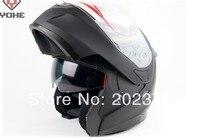 undrape face helmet matte black YOHE 953 doublelens dual motorcycle Motorbike ABS shell, Lining can unpick and wash