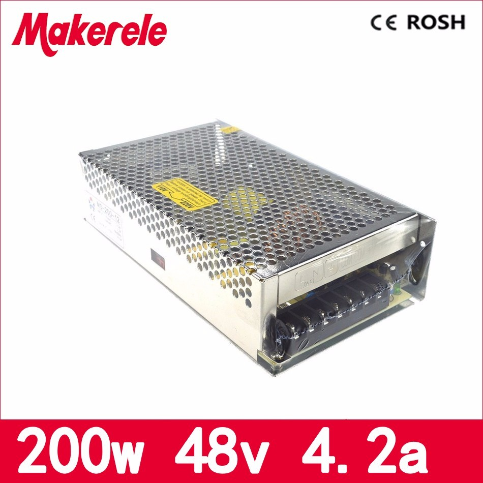MS-200-48 110V 220V ac to 48V dc mini size single output new type 4.2A 200w switching power supply smps with CE certification 100w 48v 2 1a mini size led switching power supply transformer 220v ac to dc 48v output converter small volume smps ms 100 48