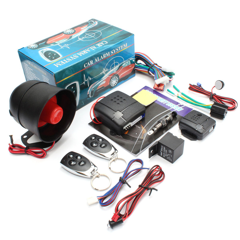 One Way Auto Car Alarm Systems Central Door Locking Security Key. One Way Auto Car Alarm Systems Central Door Locking Security Key With Remote Control Siren Sensor. Wiring. Car Alarm Wiring One Wire At Scoala.co