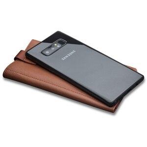 Image 2 - Qialino estilo de negócios caso para samsung galaxy note 9 artesanal couro genuíno carteira bolsa slot para cartão capa para samsung nota 8