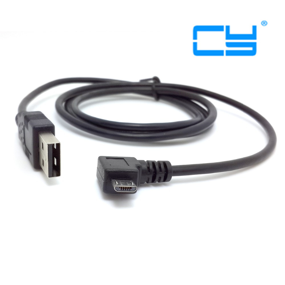 1m/3ft Left & right angled Micro USB 90 degree Male to USB Data Charge Cable for Samung Moto HTC Samsung date Cable