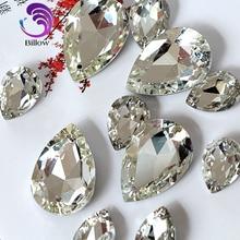 Teardrop Crystal Glass Sew On Rhinestone Pointback Crystal Sew on Stone  Droplet Sewing Rhinestone for Wedding 1b6b4fa722a8