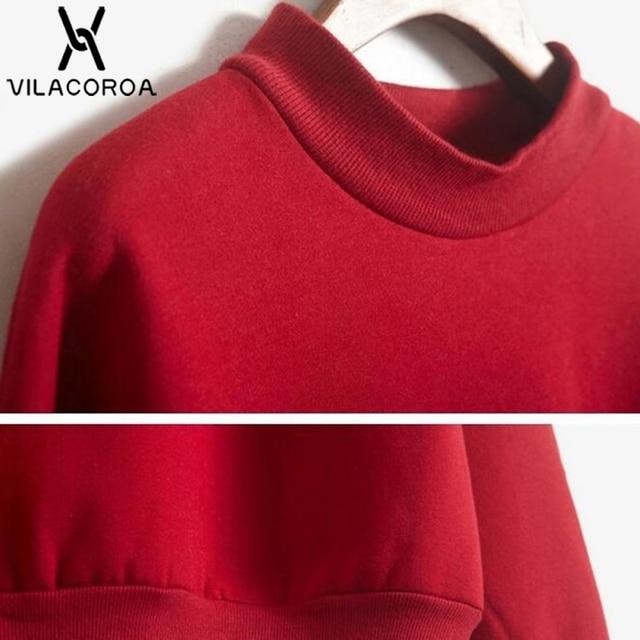 9 Colors Winter Solid Color Round Neck Long Sleeve Velvet Warm Sweatshirts Women Korean style Loose Hoodies Female Casual Coat 3
