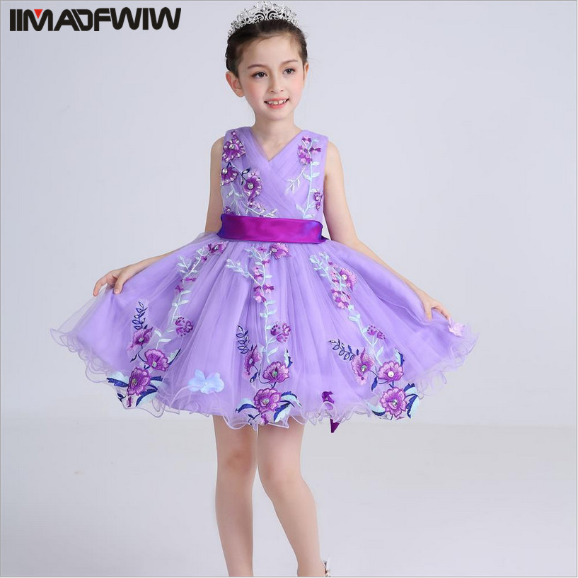Подробнее о IIMADFWIW Summer Girl Princess Sleeveless Wedding Dress Children Clothing Dresses For Girls Kids Birthday Party Costumes Child zika new children puff dress little girl clothing summer flower princess costumes kids dresses for girls wedding party 3 8y