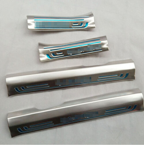 Internal Door Sill Strip for Nissan QASHQAI 2015 Welcome Pedal Car Styling  Accessories 4pcs for mitsubishi pajero 2013 stainless steel internal door sill strip welcome pedal auto car styling stickers accessories 4 pcs