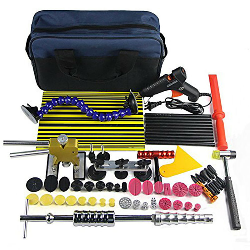 Paintless Dent Repair Tool Kit Dent sollevatore Schede di Bordo Linea di Slide hammer Dent Puller Colla pistola per Colla a mano Tazza Tazza di Aspirazione set di strumenti