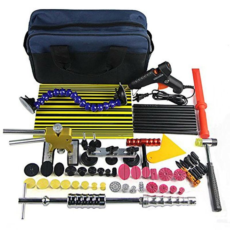 Paintless Dent Repair Tool Kit PDR Dent lifter Schede di Bordo Linea di Slide hammer Dent Puller Colla pistola di Colla Tazza di Aspirazione PDR Tool Set