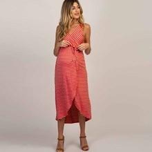 Maternity Dresses Clothes Pregnancy Dress Pregnant Casual Stripes Pregnants Summer Comfortable Sundress