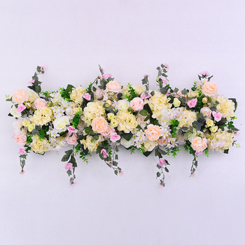 Artificial flower arrangement decor for wedding plan with HI-Q material fake flower row arch decor flower wall support customize