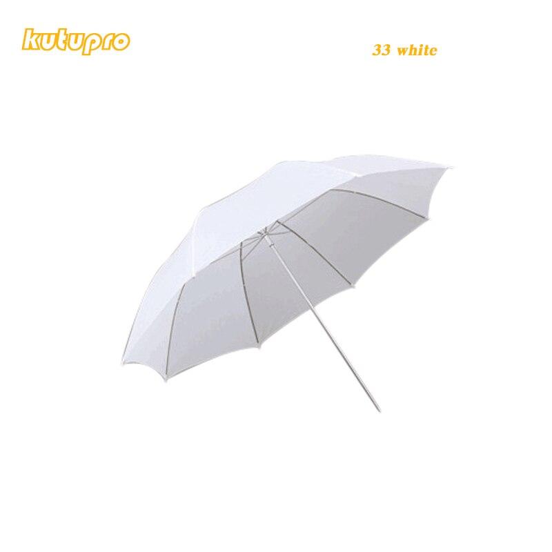 kutuproLightweight 33in 83cm Pro Studio Photography Flash Translucent Soft Lambency Umbrella White Nylon Material Aluminum Shaft