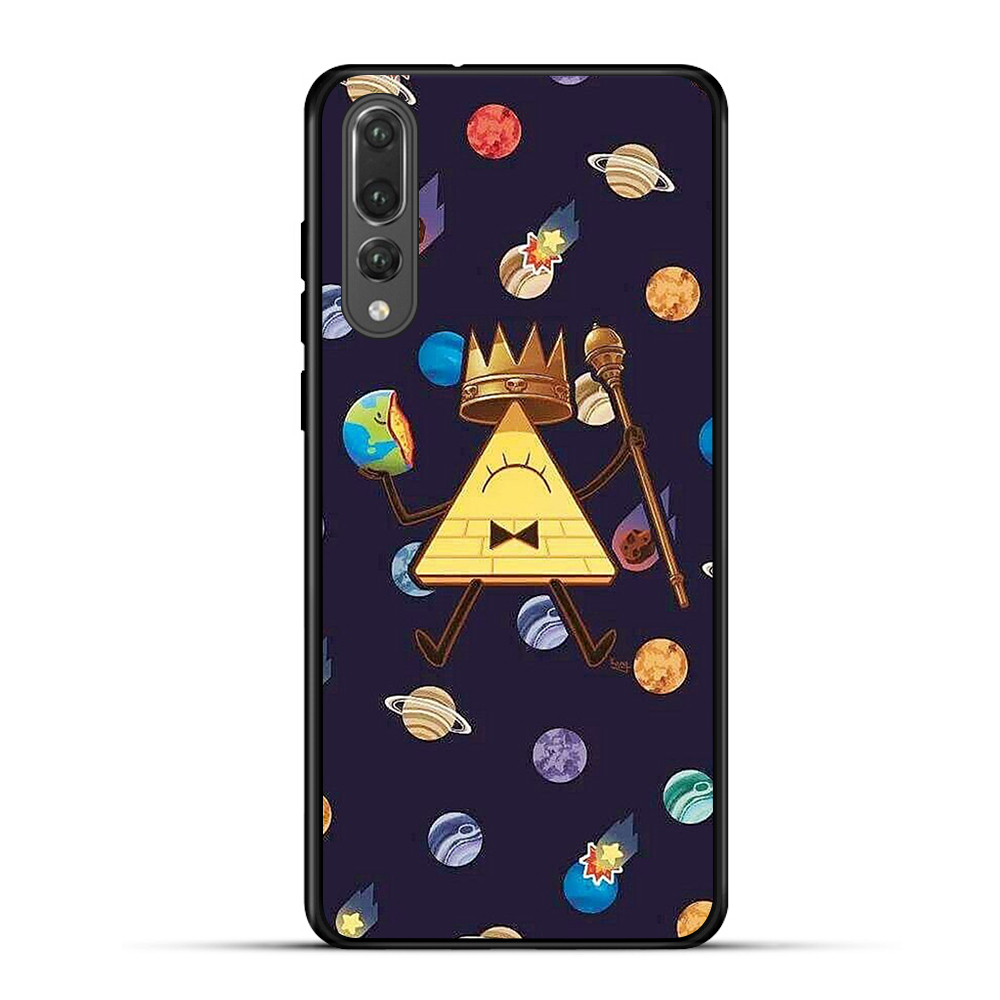 Soft Silicone Case for Honor 7a Black Silicone TPU Cases Nova 3i Nova 3 Case for Honor 10 Lite Floral Phone Case in Half wrapped Cases from Cellphones Telecommunications