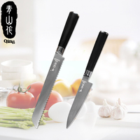 QING Brand Damascus Kitchen Knives Set Tool Hot Sale 2018 VG10 Core 67 Layer Japanese Damascus Steel Knife Kitchen Cooking Tools