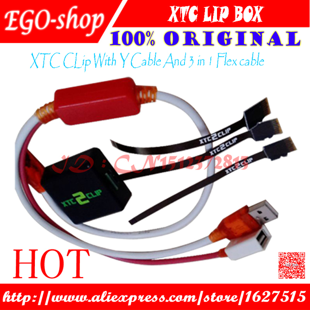 free shipping xtc 2 clip xtc clip Box and Y cable and 3 in 1 Flex cable for HTC