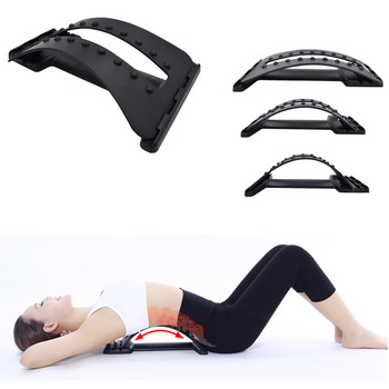 MOREE Back Massage Stretcher Stretching Magic Lumbar Support Waist Neck Relax Mate Device Spine Pain Relief Chiropractic