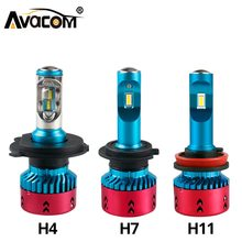 Avacom LED H7 H1 H4 ZES Chip Turbo Fan Car Headlight Bulbs 12V 24V 6500K White 16000Lm LED H11 H8 HB3 HB4 H15 Auto Ice Headlamp(China)