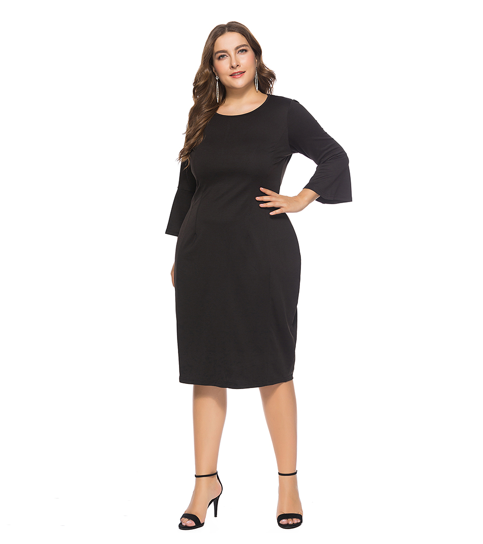 Detail Feedback Questions about Miaoke Plus Size Casual Runway Midi ... 4ef80770f960