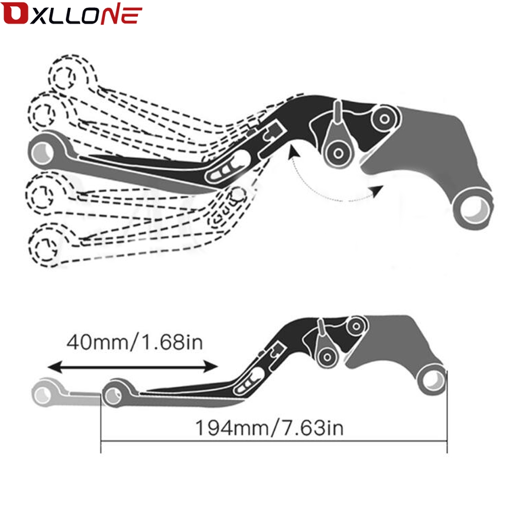 Image 5 - FOR Honda XL1000 VARADERO /XL1000V VARADERO 1999 2000 2013 High quality Adjustable extenable CNC Motorcycle brake clutch lever-in Levers, Ropes & Cables from Automobiles & Motorcycles