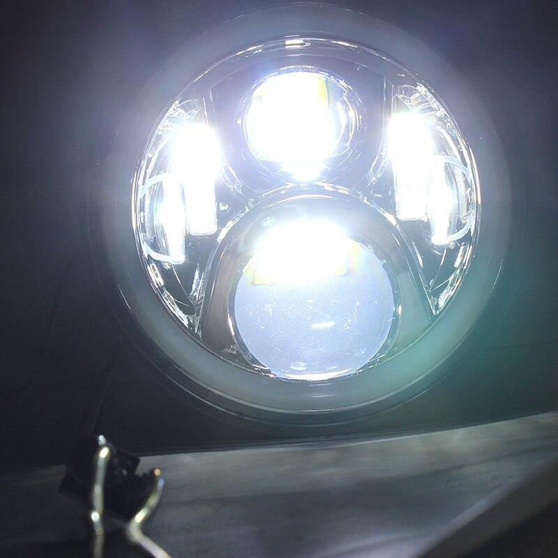 FADUIES Chrome 7 дюйм 65W дөңгелек жарықдиодты - Мотоцикл аксессуарлары мен бөлшектер - фото 3