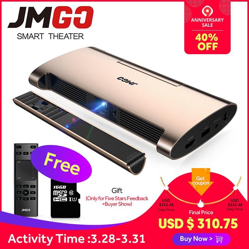JMGO projecteur intelligent M6. Android 7.0, Soutien 4 k, 1080 P Décodage. Ensemble en WIFI, Bluetooth, HD-IN, USB, stylo laser, mini projecteur