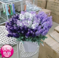 Offer 10 Lavender Wedding Bouquet Simulation Head Garden Table Plastic Living Room Decorative Floral Flower