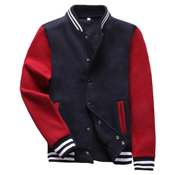 2019 New Men Baseball Jacket Bomber Jacket Coat Men Sweaters Stand Collar Fashion Rib Sleeve Bottom Jackets Free Shipping