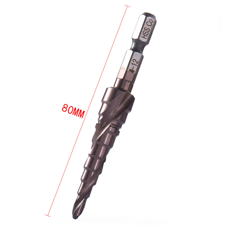 HSS-Co Cobalt Spiral Grooved Step Drill Bits 1/4 Hex Shank Wood Metal Cone Drilling 3-12mm Hole Saw M35 полушерстяное пальто в клетку