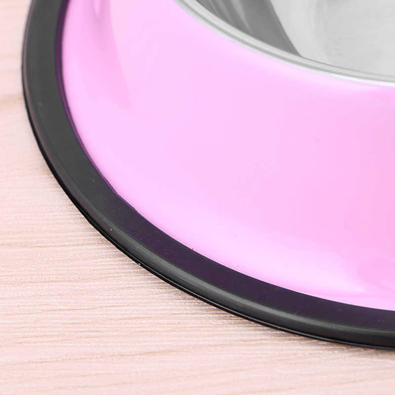 Multi-color Anti-Skid Stainless Steel Cat Dog Food Water Bowl Pet Feeding Bowl