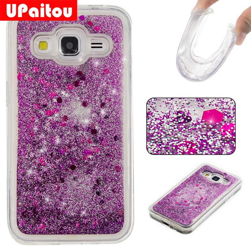 hot sale online e0eda f5dea UPaitou Dynamic Liquid Glitter Cases for Samsung Galaxy Core Prime G360  G361 Quicksand TPU Cases for Samsung G360H G361H Cover