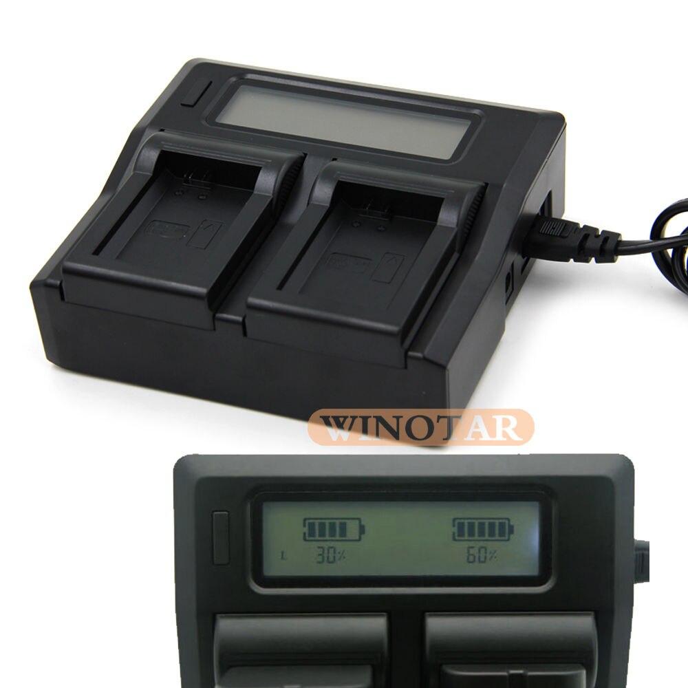 LCD Double Rapide Chargeur de Batterie pour JVC BN-VF808, BN-VF808U, BN-VF815, BN-VF815U, BN-VF823, BN-VF823U Batteries Chargeur