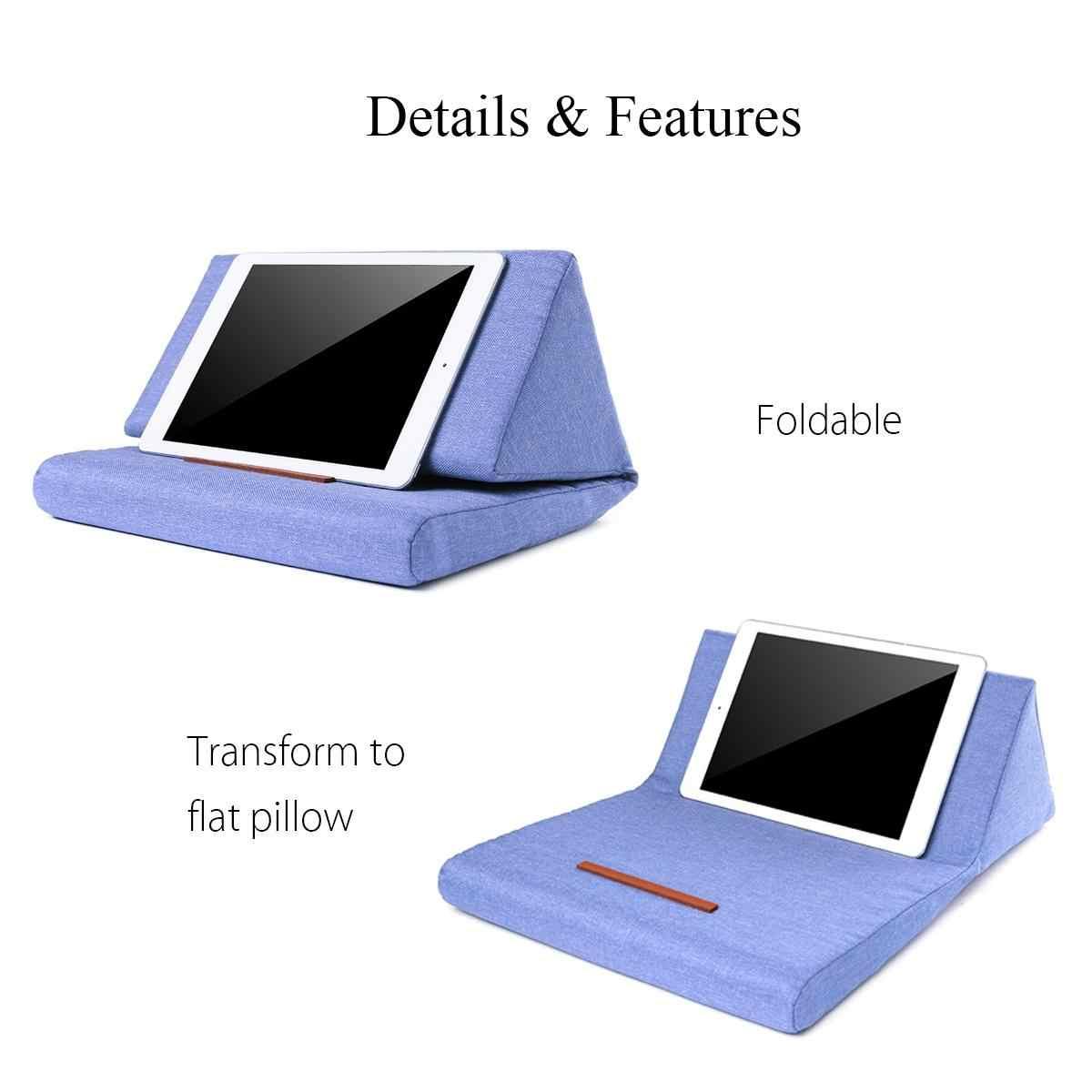 متعددة الوظائف المحمول وسادة حامل الملونة Lapdesk اللوحي الوقوف وسادة البوليستر Cutton PC القراءة قوس وسادة ل ipad