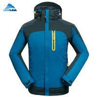 Man 3in1 Winter Camping Hiking Jacket Men Outdoor Sports Coat Fishing Skiing Waterproof Chaqueta Hombre Windbreaker