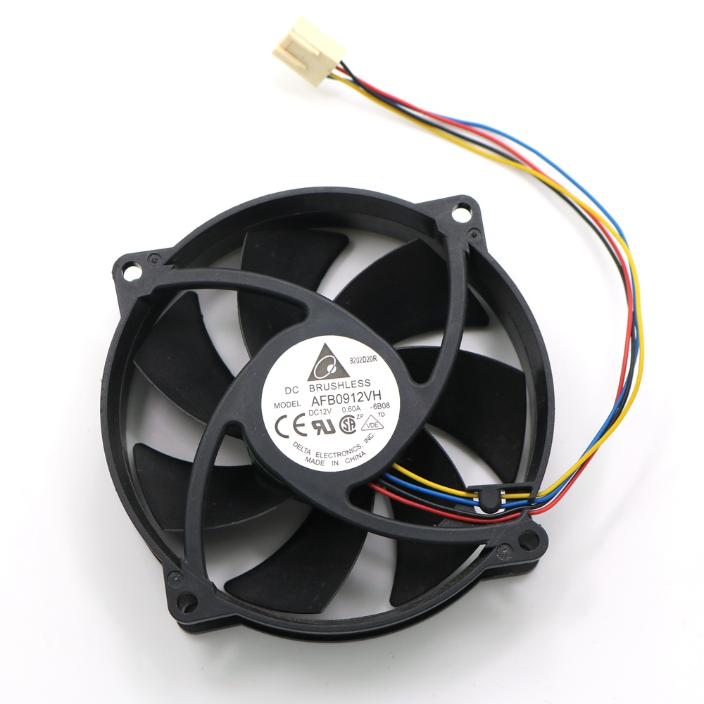 hight resolution of computer cooler fan afb0912vh 12v 0 60a 4 wire 9225 92mm 80x25mm dc brushless pwm cooling fans in fans cooling from computer office on aliexpress com