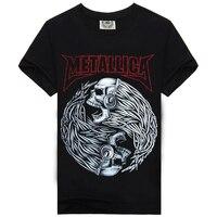 New 2015 Summer Heavy Metal Men T Shirt Rock T Shirt Man 3D T Shirt Fashion