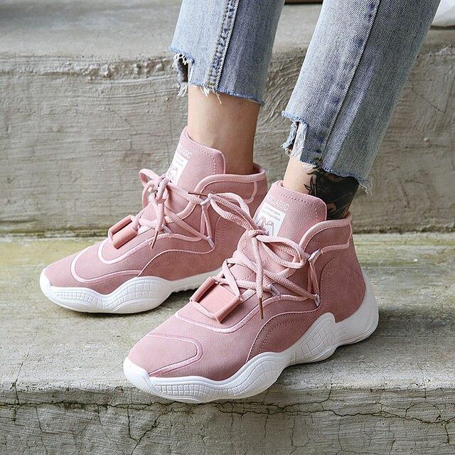 2018 primavera otoño Casual zapatos mujer gruesa suela