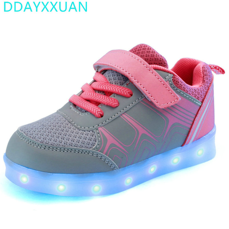7 Colors Kids Sneakers with light 2018 New Autumn USB Charging Luminous Lighted Sneakers Boy/Girls Colorful LED Children Shoes7 Colors Kids Sneakers with light 2018 New Autumn USB Charging Luminous Lighted Sneakers Boy/Girls Colorful LED Children Shoes