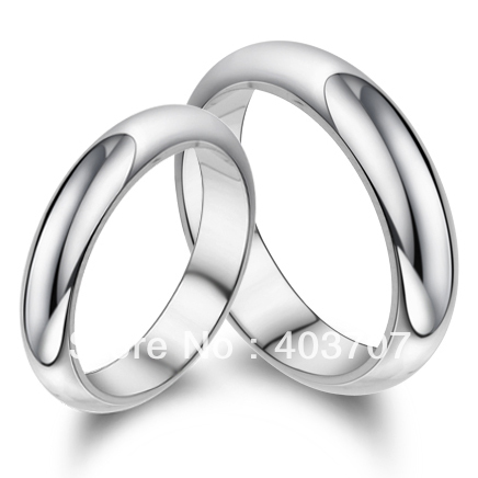 943c7b7151 New Fashion Simple Design Smooth Surface Real 925 Silver Couple Ring for  Engagemet or Wedding With No Stone WR085
