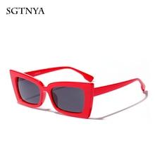 Trend new sunglasses unisex personality square brand designer retro sexy glasses