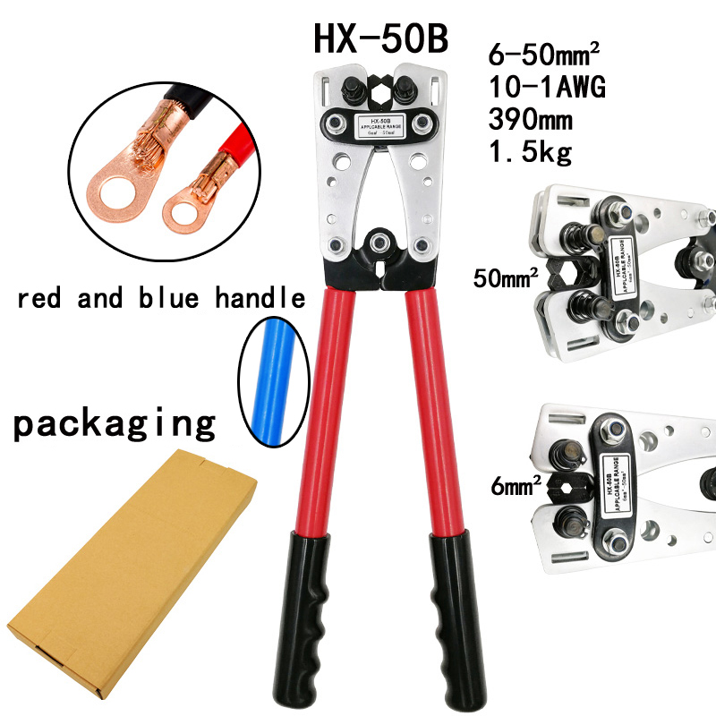 HX-50B kabel crimpercable lug crimpen werkzeug draht crimper hand ...