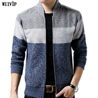 Winter New Men's Knitted Sweaters Cardigans Collar Winter Wool Fashion Cardigans Male Sweaters Coat Brand 210