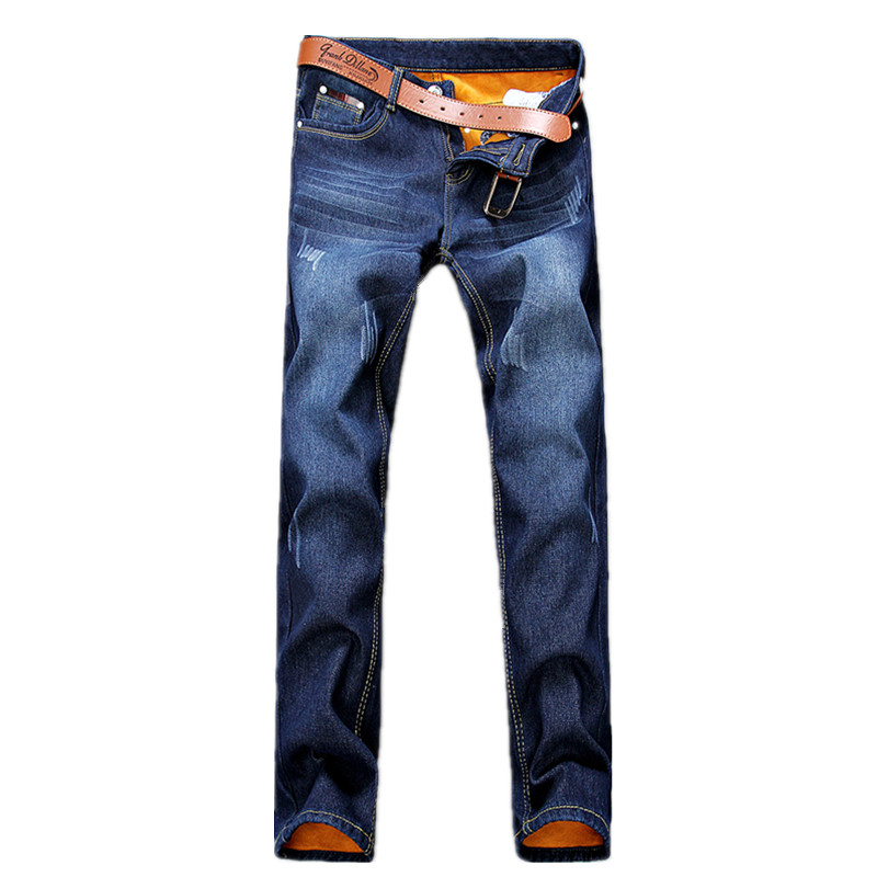 2016 winter men s thick classic fashion jeans men s straight jeans Men s cotton Heavyweight