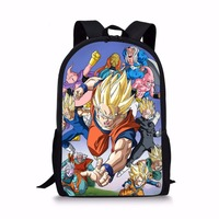 FORUDESIGNS Anime Dragon Ball Backpacks For Teenage Boys Cool Super Saiyan Sun Goku Vegeta Printing Children