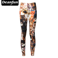 2016 Hot Sale New Arrival 3D Printed Fashion Women Leggings Cats Legging Tie Dye Fitness Pant
