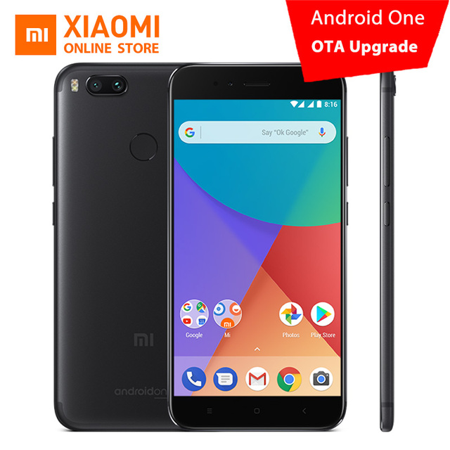 Global Version Xiaomi Mi A1 4GB 64GB Mobile Phone Snapdragon 625 Octa Core 12.0MP+12.0MP Dual Camera Android One 5.5'' 1080P