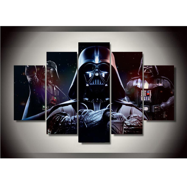 Canvas Printings Star Wars Darth Vader Painting Wall Art Home Decoration Poster Canvas Unframed Free shipping