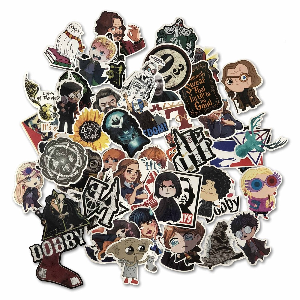 53PCS Pack Cartoon Harry Classic Stickers Set Toy Sticker For Luggage Skateboard Laptop Sticker Refrigerator Stationery Stickers