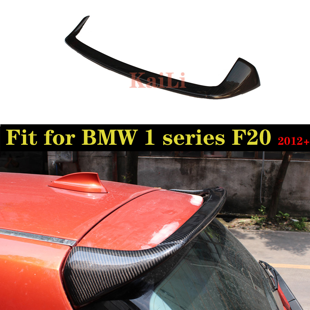 For <font><b>BMW</b></font> 1 Series F20 Spoiler 2012 - 2019 <font><b>116i</b></font> 120i 118i M135i F20 F21 <font><b>Carbon</b></font> Fiber Rear Spoiler Wing Lip AC Style F20 Spoilers image