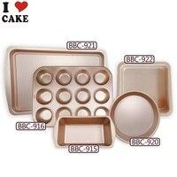 Bakeware Set cake decoration mould 5 pcs non stick coating mini loaf pan set