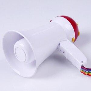 Image 5 - 5Wฮอร์นเล่นเพลงMINIเครื่องขยายเสียงแบบพกพาMegaphoneมือถือการสอนลำโพงไร้สายไมโครโฟนพูดพับได้