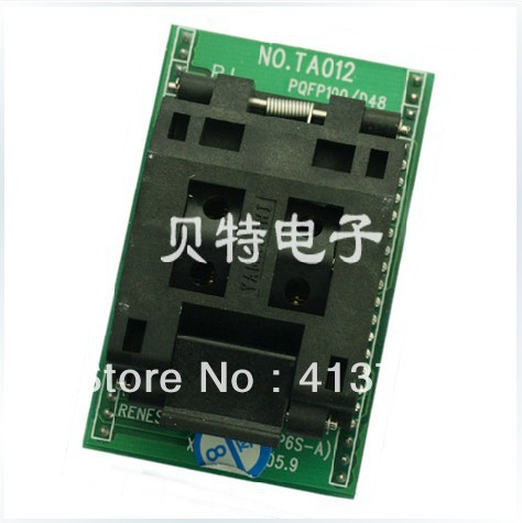 Sirte special IC test block, TQFP100 adapter to convert TA012-B006 ic qfp32 programming block sa636 block burning test socket adapter convert